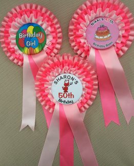 Triple Rosettes - Birthdays