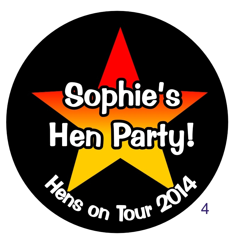 Special Offer on PERSONALISED HEN NIGHT Triple Rosettes