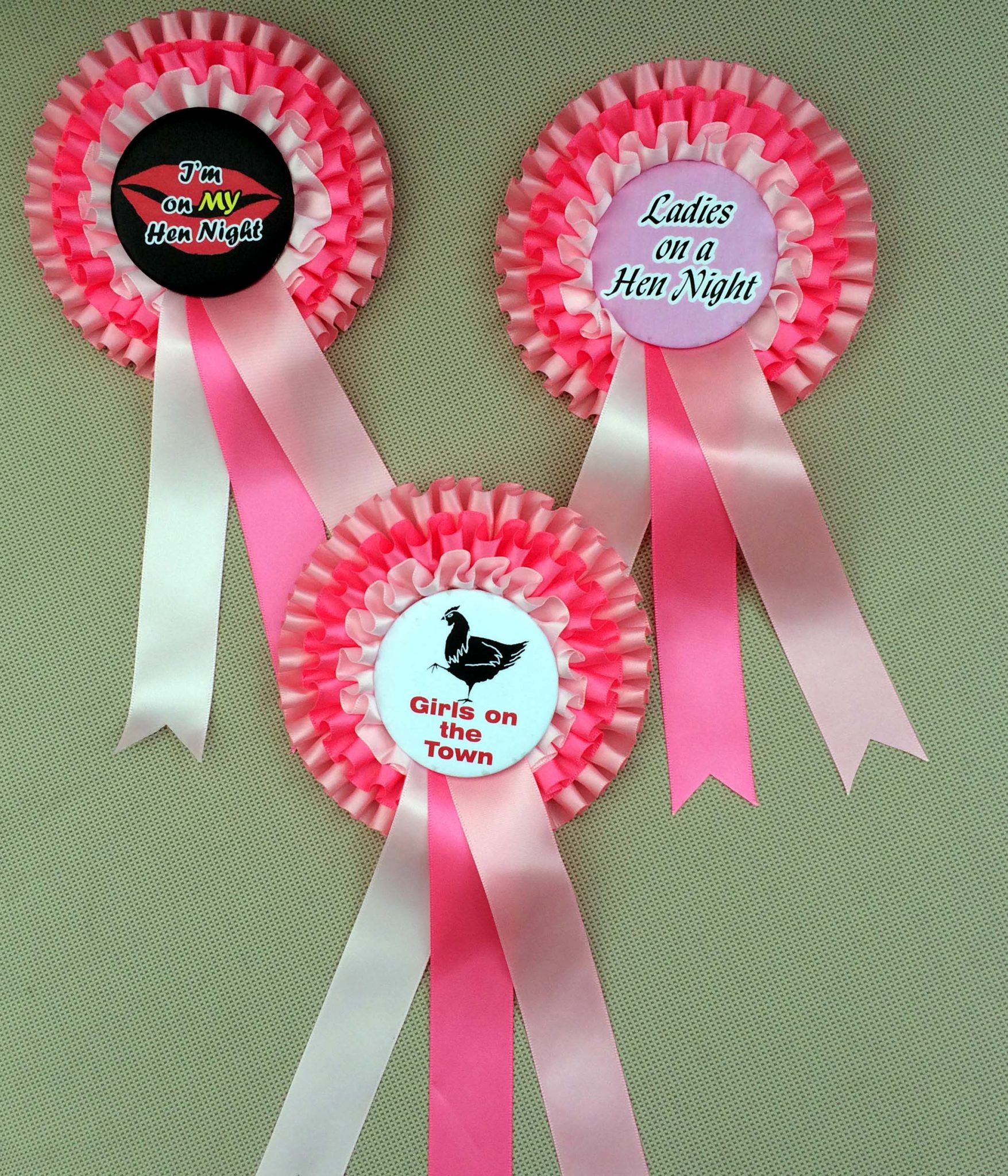 Special Offer on STANDARD HEN NIGHT Triple Rosettes
