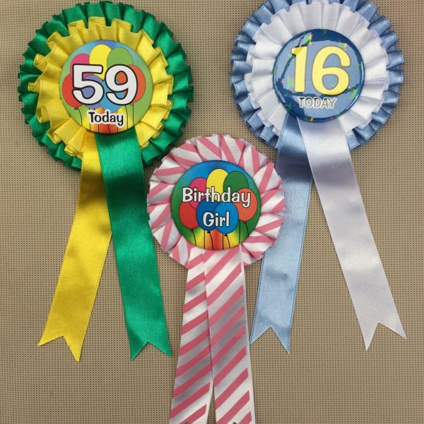 Rosettes for Birthdays