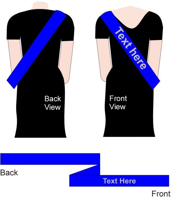 customised blue sashes