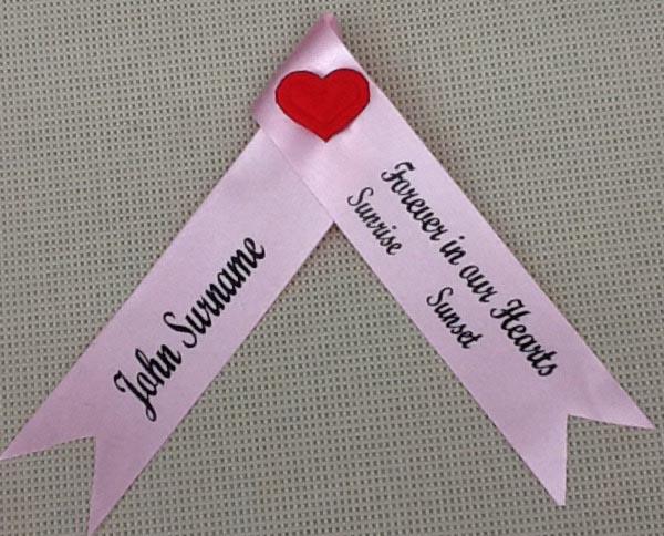 Funeral Ribbons - Memorial Service Ribbons
