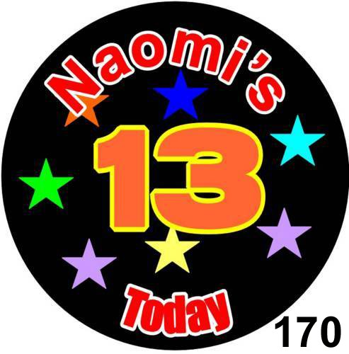 Badges - Personalised for Birthdays