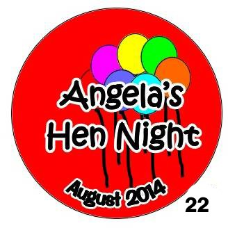 Personalised Badges for Hen Nights