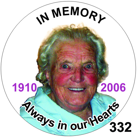 funeral badges