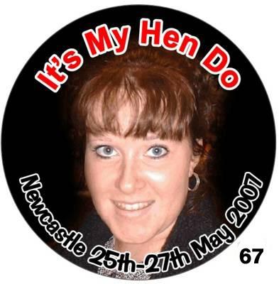 Photo Badges for Hen Nights - circular
