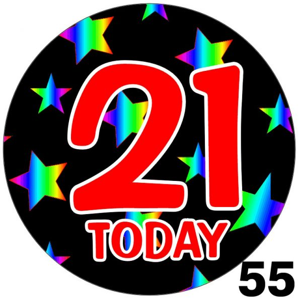 Badges for Birthdays - Rainbow Age Badge