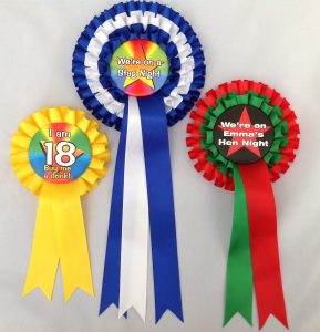 persnalised rosettes