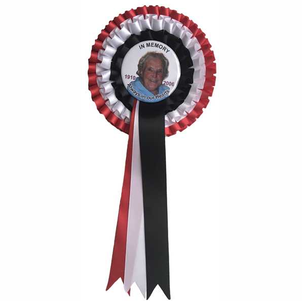 Personalised Rosettes for Funerals