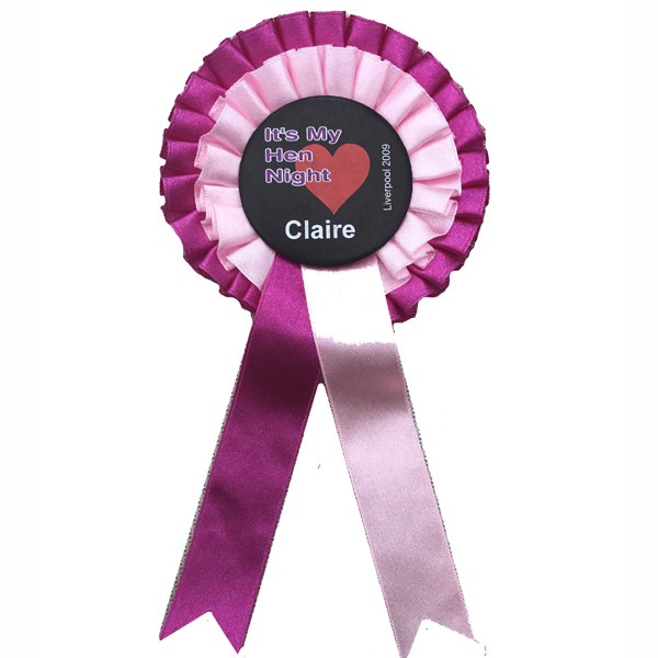 Personalised Rosettes for your Hen Party Celebration