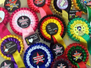 Personalised party rosettes