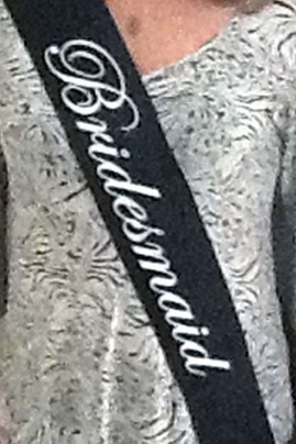 Bridesmaid Sash - Black and White