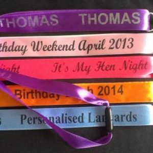 25mm Custom Ribbon Lanyards