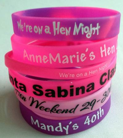 Customised Wristbands - Silicone